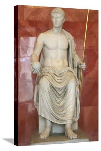 Statue of Augustus as Jupiter, First Half of 1st Century Bc--Stretched Canvas Print