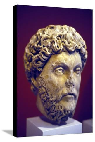 Hadrian (76-13), Roman Marble Bust--Stretched Canvas Print