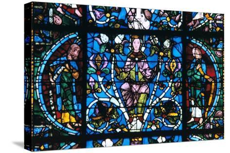 Virgin and Prophets, Stained Glass, Chartres Cathedral, France, 1194-1260--Stretched Canvas Print