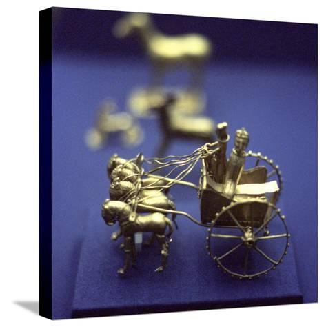Gold Model Chariot from the Oxus Treasure, Achaemenid Persian, 5th-4th Century BC--Stretched Canvas Print