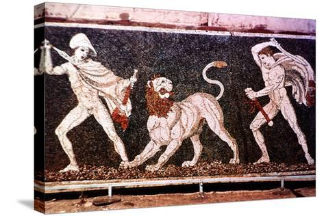 The Lion Hunt, 4th Century Bc--Stretched Canvas Print