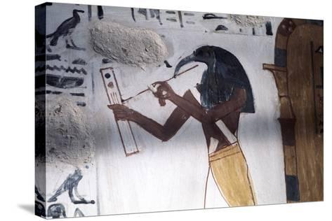 Ibis-Headed God Thoth, Secretary to the Gods and Patron of Scribes, Ancient Egyptian--Stretched Canvas Print