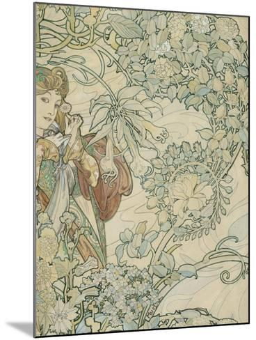 Textile Design-Alphonse Mucha-Mounted Giclee Print