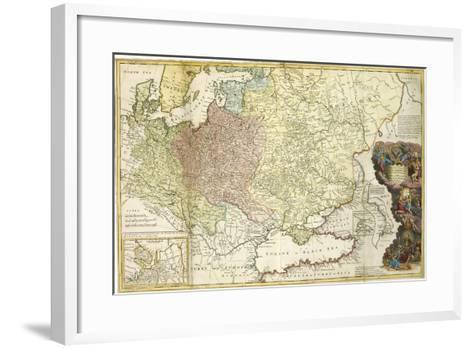 Map of Muscovy-Herman Moll-Framed Art Print