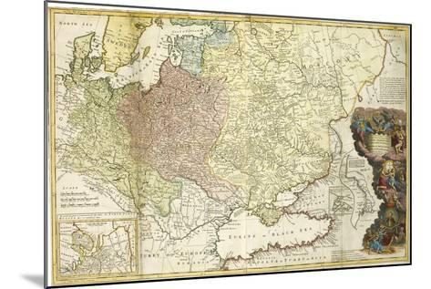 Map of Muscovy-Herman Moll-Mounted Giclee Print