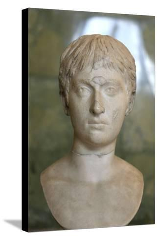Portrait of a Youth, First Half of 2nd Century--Stretched Canvas Print