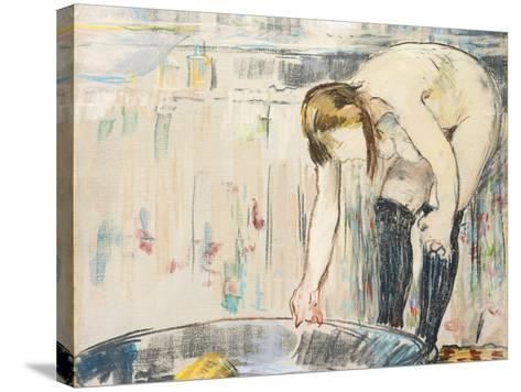Femme Au Tub-Edouard Manet-Stretched Canvas Print