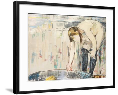 Femme Au Tub-Edouard Manet-Framed Art Print
