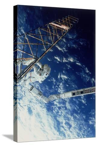 Astronaut on Eva from the Space Shuttle Atlantis, 1985--Stretched Canvas Print