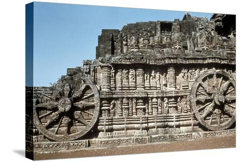 Side Wall of the Chariot, Temple of the Sun, Konarak, India, 13th Century--Stretched Canvas Print