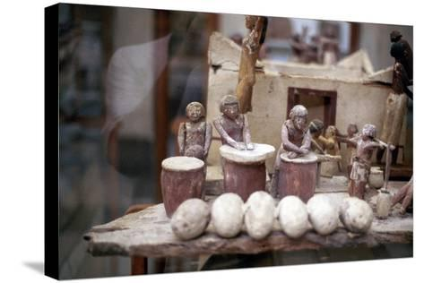 Funerary Tomb Model of a Bakery, Ancient Egyptian--Stretched Canvas Print