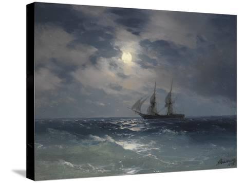 Brig Mercury-Ivan Konstantinovich Aivazovsky-Stretched Canvas Print