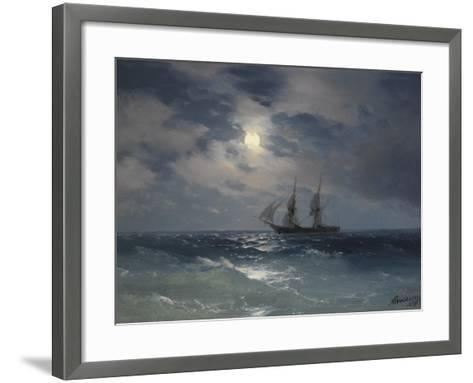 Brig Mercury-Ivan Konstantinovich Aivazovsky-Framed Art Print