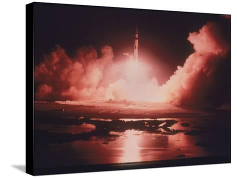 Launch of the Apollo 17 Mission, 1972--Stretched Canvas Print