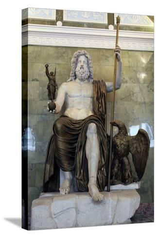 Statue of the Roman God Jupiter, Late 1st Century--Stretched Canvas Print