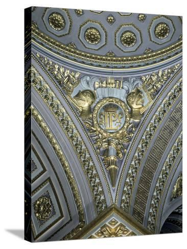 Detail of a Pendentive in a Cupola, Galerie Des Batailles, Chateau De Versailles, France--Stretched Canvas Print