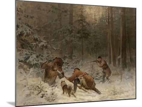Bear Hunt-Evgeny Alexandrovich Tichmenev-Mounted Giclee Print