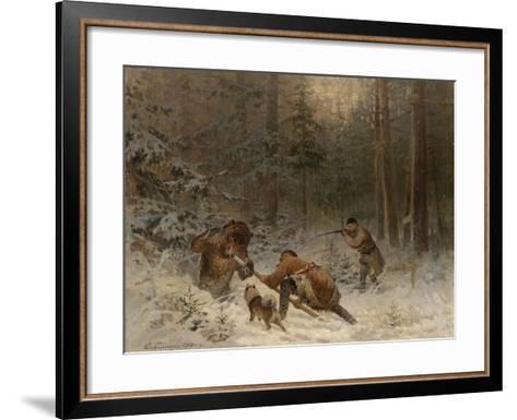Bear Hunt-Evgeny Alexandrovich Tichmenev-Framed Art Print