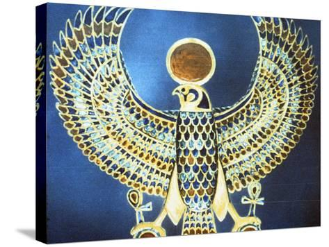 Pectoral Showing the God Horus, Ancient Egyptian, 18th Dynasty, C1325 Bc--Stretched Canvas Print