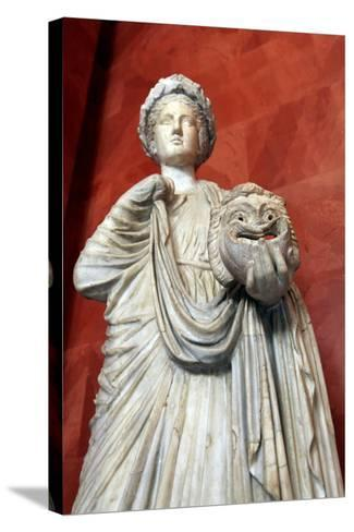 Statue of Thalia, Muse of Comedy--Stretched Canvas Print