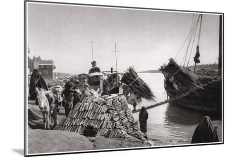 Unloading Cargo from a Boat, Muhaila, Baghdad, Iraq, 1925-A Kerim-Mounted Giclee Print