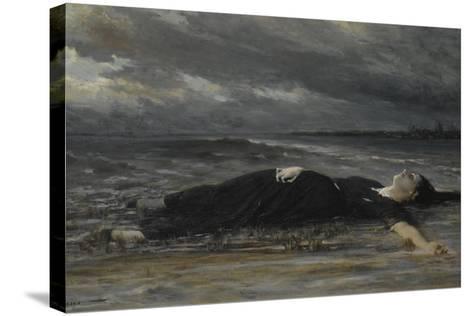Ophelia-Constantin Emile Meunier-Stretched Canvas Print