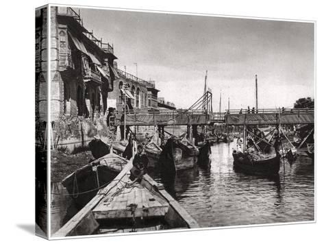 The Whiteley Bridge, Ashar Creek, Basra, Iraq, 1925-A Kerim-Stretched Canvas Print