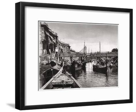The Whiteley Bridge, Ashar Creek, Basra, Iraq, 1925-A Kerim-Framed Art Print