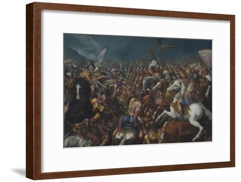 The Fight Between Scipio Africanus and Hannibal, C. 1616-1618-Bernardino Cesari-Framed Art Print
