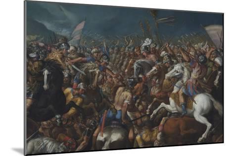 The Fight Between Scipio Africanus and Hannibal, C. 1616-1618-Bernardino Cesari-Mounted Giclee Print