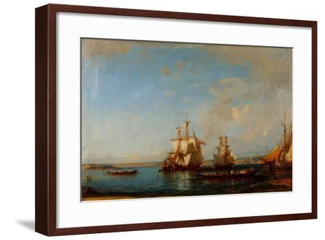 Caiques and Sailboats at the Bosphorus, Second Half of the 19th C-Felix-Francois George Ziem-Framed Art Print