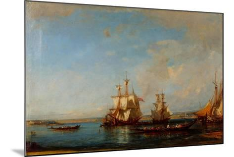Caiques and Sailboats at the Bosphorus, Second Half of the 19th C-Felix-Francois George Ziem-Mounted Giclee Print