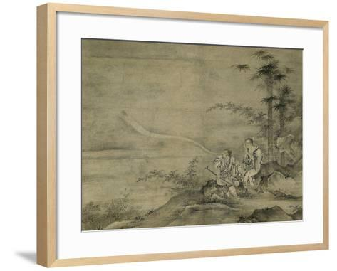 Genii Gama Sennin and Tekkai Sennin, Second Half of The16th C-Kano, Motonobu-Framed Art Print
