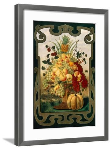 Sign Board for Fruit Shop, Early 20th C--Framed Art Print