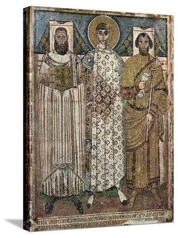 Saint Demetrius of Thessaloniki with the Donors, 6th-7th Century--Stretched Canvas Print