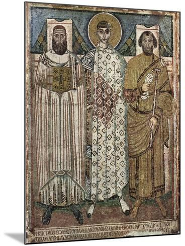 Saint Demetrius of Thessaloniki with the Donors, 6th-7th Century--Mounted Giclee Print