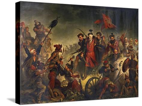 Death of Stanislaw Zolkiewski in a Battle of Cecora 1620, 1877-Walery Eljasz-Radzikowski-Stretched Canvas Print