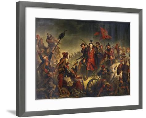 Death of Stanislaw Zolkiewski in a Battle of Cecora 1620, 1877-Walery Eljasz-Radzikowski-Framed Art Print