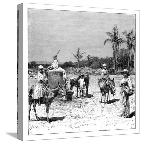 Group of Haitians, C1890--Stretched Canvas Print