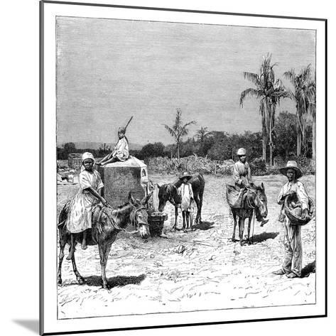 Group of Haitians, C1890--Mounted Giclee Print