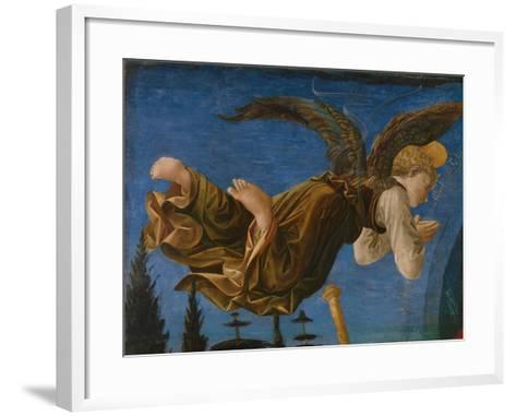 Angel (Panel of the Pistoia Santa Trinità Altarpiec), 1455-1460-Francesco Di Stefano Pesellino-Framed Art Print
