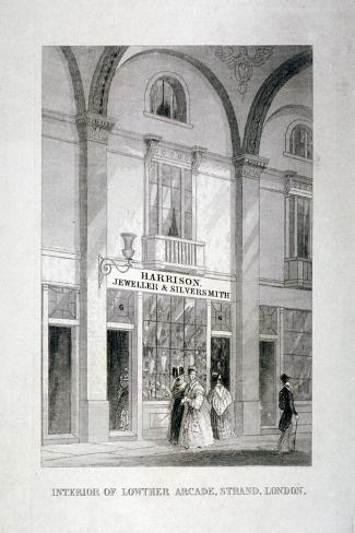 Lowther Arcade, Strand, Westminster, London, C1850--Stretched Canvas Print