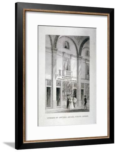 Lowther Arcade, Strand, Westminster, London, C1850--Framed Art Print