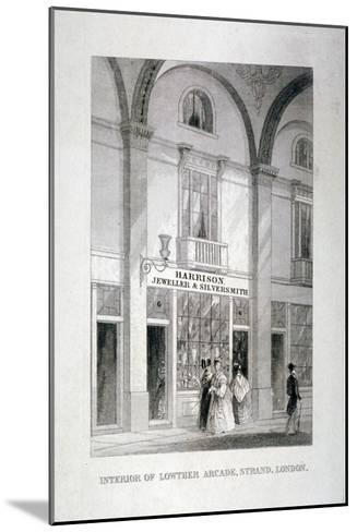 Lowther Arcade, Strand, Westminster, London, C1850--Mounted Giclee Print