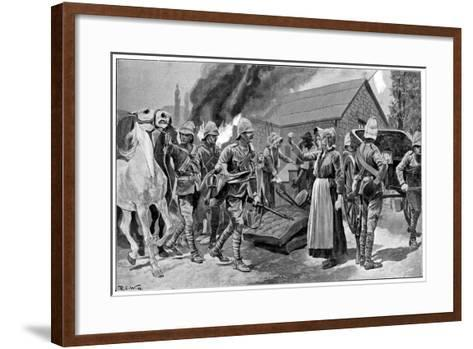 Burning the Farm of a Treacherous Burgher, 2nd Boer War, C1900-Richard Caton Woodville II-Framed Art Print