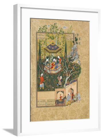 Folio from Haft Awrang (Seven Throne) by Jami, 1550S--Framed Art Print