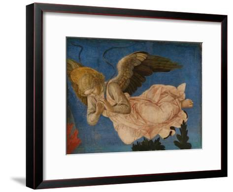 Angel (Panel of the Pistoia Santa Trinit? Altarpiec), 1455-1460-Francesco Di Stefano Pesellino-Framed Art Print