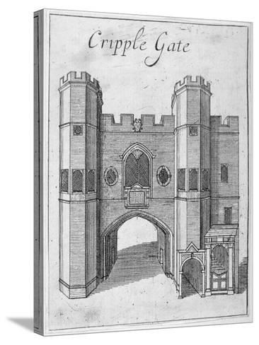 Cripplegate, City of London, 1750--Stretched Canvas Print