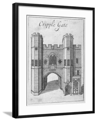 Cripplegate, City of London, 1750--Framed Art Print