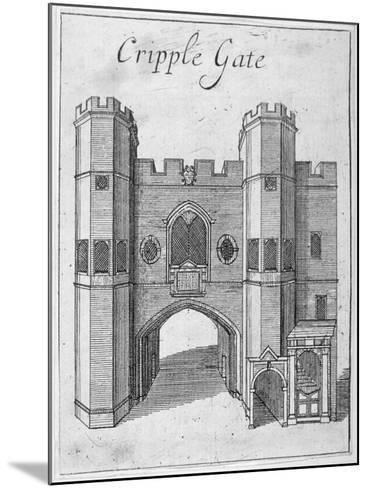 Cripplegate, City of London, 1750--Mounted Giclee Print